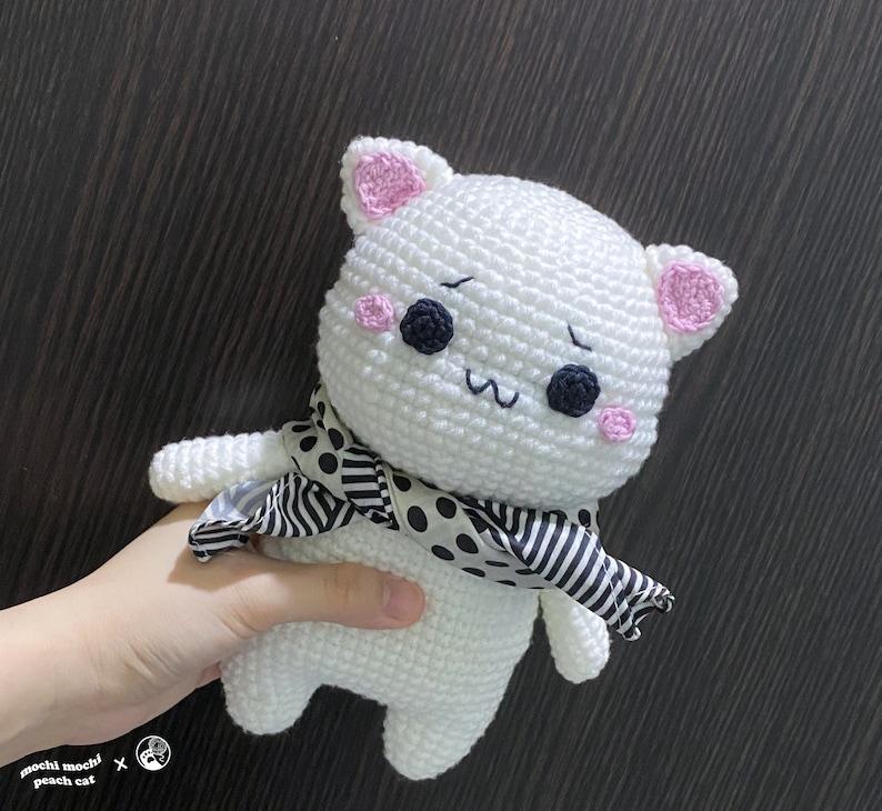 Amigurumi Pattern Mochi Peach Cat Doll image 0