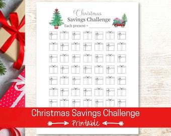 Christmas Savings Challenge   Savings Tracker Printable   Money Challenge   Fun Holiday Savings Chart   Debt Free Christmas
