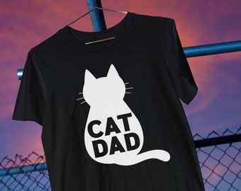 Cat Dad T-Shirt, Cat Daddy, Cat Lover, Fathers Day, Gifts for Him, Gift from the Cat   Short-Sleeve Unisex T-Shirt