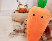 new Comfortable 21.6'' Carrot Pillow Cute Plush Toy Best Choice for Kids Gift 1 Pack