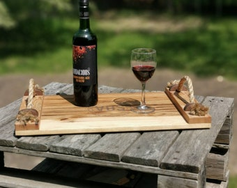 Repurposed wood serving trays