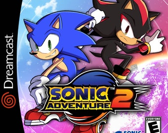 Sonic Adventure 2 Reproduction Custom Sega Dreamcast Game.