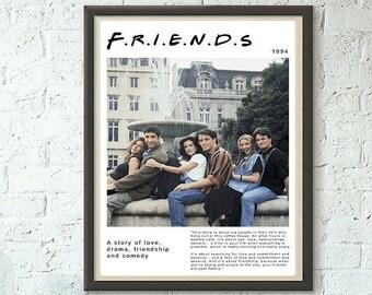 Friends Poster Print Hit TV Show Netflix Wall Art Décor Perfect Gift Frame