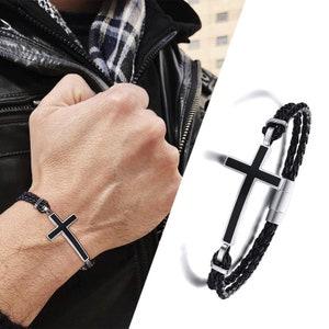 Men bracelet accessories for men A.P lion gold lava stone jewellery Donovan