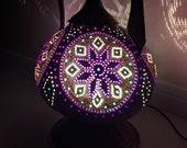 Natural Gourd Night Lamp, Ottoman, Turkish, Moroccan Art, Unique, Decorative Pitcher for sale