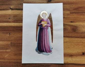 Illumination musician angel original artwork