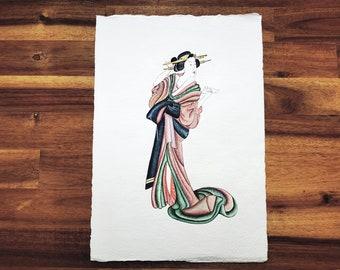 Illumination Japanese woman original artwork