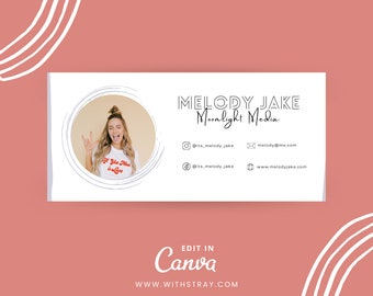 Email Signature Template, Gmail Signature, Small Business Branding, Social Media Manager, Realtor Real Estate Broker Email Signature
