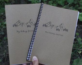My Hiking Journal, CURSIVE, Trail Notebook, Printable Hiking Log, Nature Notebook, Nature Study Journal, Printable Nature Journal