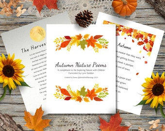 Autumn Nature Poems, Printable Fall Poetry, Nature Poetry, Exploring Nature with Children