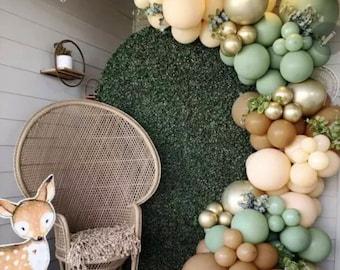 Retro Brown  Balloon Arch | Balloons Garland | Birthday | Baby Shower Decor | Retro Sage Green , Boho Safari | Jungle theme| Engagement.