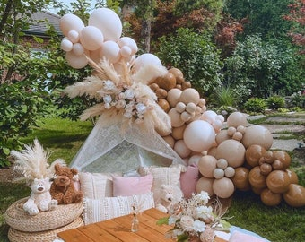 102pcs Coffee Aprico Double Layer Balloon Arch   Balloons Garland   Birthday   Baby Shower Decor   Bridal Shower   Adult Party   Engagement.