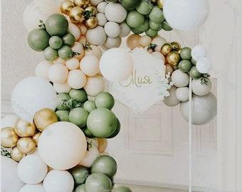 152pcs Avocado Green Premium Balloons Arch Kit | Balloon Garland |  Retro Green | Gold Latex | Avocado Color | Saga Green | Party Decor.