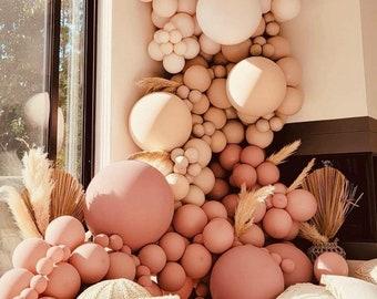 108pcs Blush Nude brown Balloon Arch Garland Kit Wedding Pink Apricot Balloon Arch, Retro , BridalShower, babyshower, Adult birthday party,