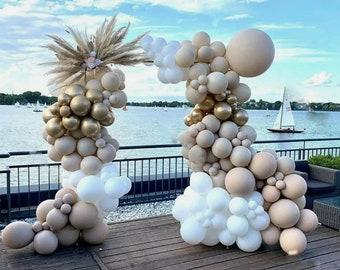 176 pcs Double stuffed Apricot bohoo balloon garland kit, diy balloon arch, babyshower, BridalShower, wedding, birthday party decoration ,