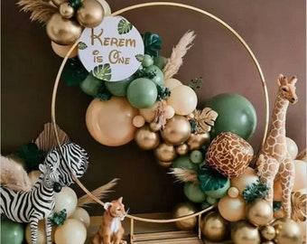 86 Pcs Eucalyptus Green, Sage Green balloon garland kit dusty green, safari theme, animal party ,birthday party decoration, babyshower,