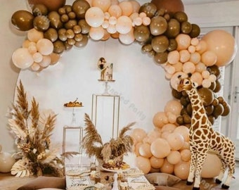 114pcs Coffee Cream Balloon Arch | Balloons Garland | Birthday | Baby Shower Decor | Bridal Shower  Women Party | Adult Party | Engagement.