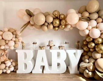 102 coffee Apricot Nude Balloon Arch   Balloons Garland   Birthday   Baby Shower Decor   Bridal Shower Double layer   Engagement, Boho Party