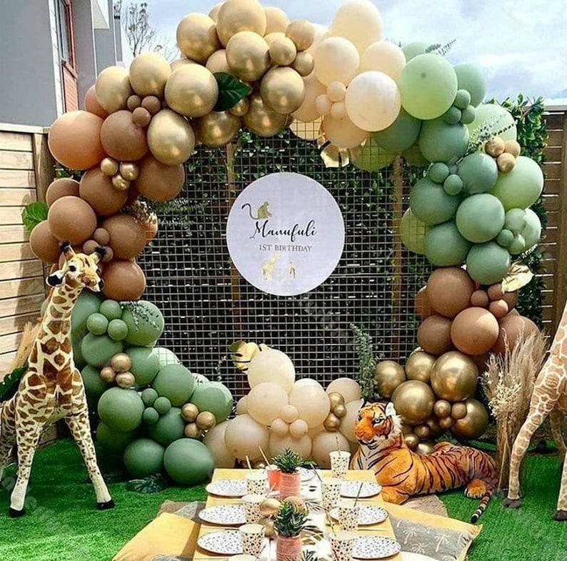 Retro Green Jungle .Boho Safari Blush Balloon Arch  Green image 1