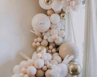 176 pcs Double stuffed Apricot boohoo balloon garland kit, balloon arch, baby shower, BridalShower, wedding, birthday party decoration ,