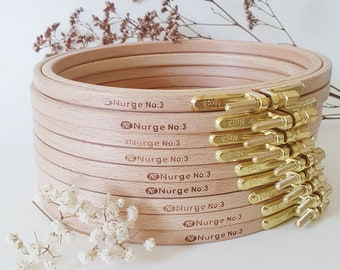 High quality embroidery hoops | different sizes | Beech wood with brass screw |Nurge No 2, No 3, No 4
