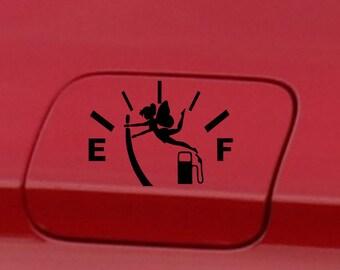 Car decal  fuel gauge  gas level