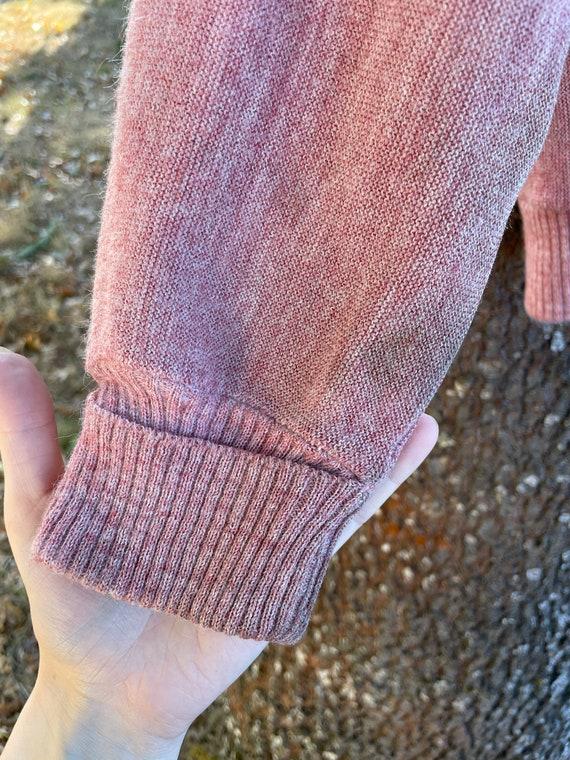 Vintage Dusty Pink Cardigan Sweater - image 7