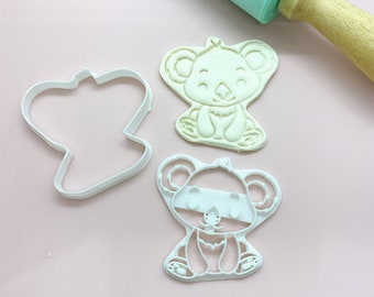 Available in Mini and Large Sizes Koala Cookie Cutter and Embosser
