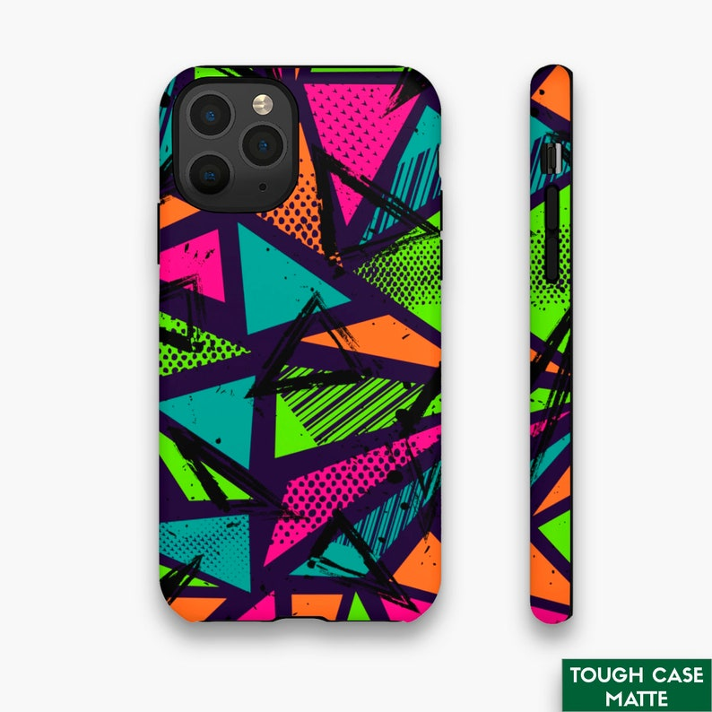 Abstract Phone Cover Geometric iPhone Case 8XXR1112ProMaxPlus Dual Layer Premium Case Sports Mosaic iPhone Tough Case GlossyMatte