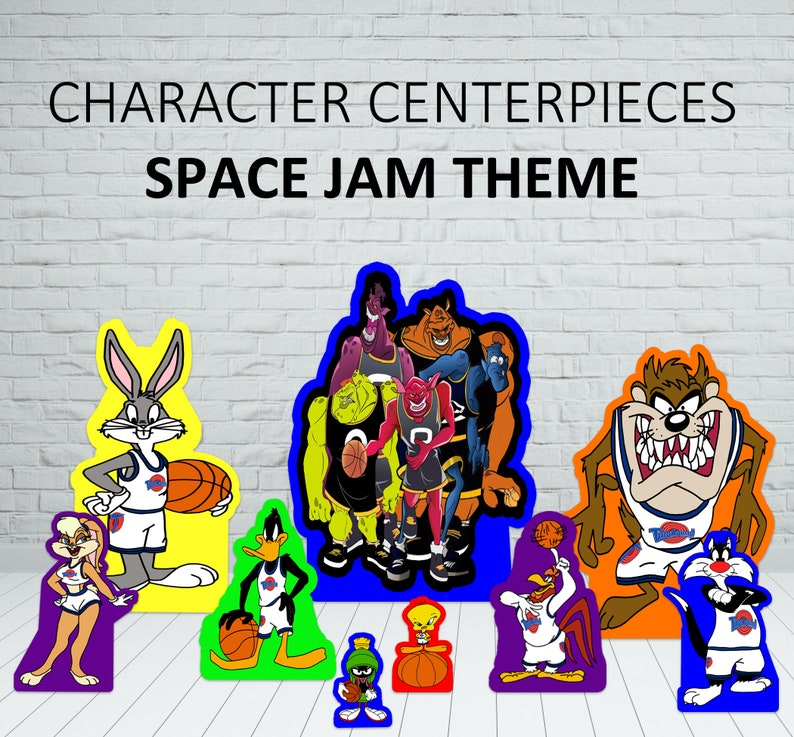 Space Jam Birthday Party Centerpiece Space Jam Characters Space Jam LOLA
