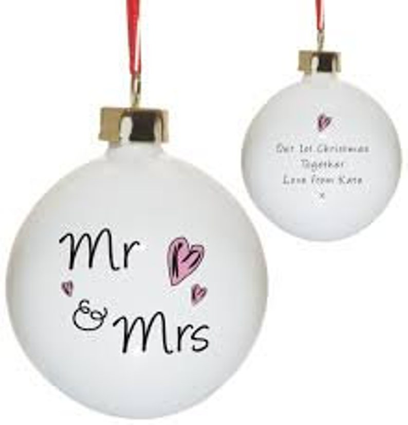 Personalised MR /& Mrs Christmas Bauble