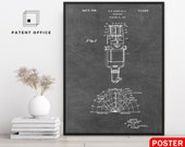 Microphone Patent Poster, Wall Art Prints, Blueprint, Gift, Jazz, Bar Decor, Music Teacher Gift, Room Decor, Vintage