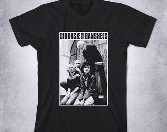 HAPPYHAPPYHAPPY Siouxsie /& The Banshees Boys Girls Short Sleeve T-Shirt White