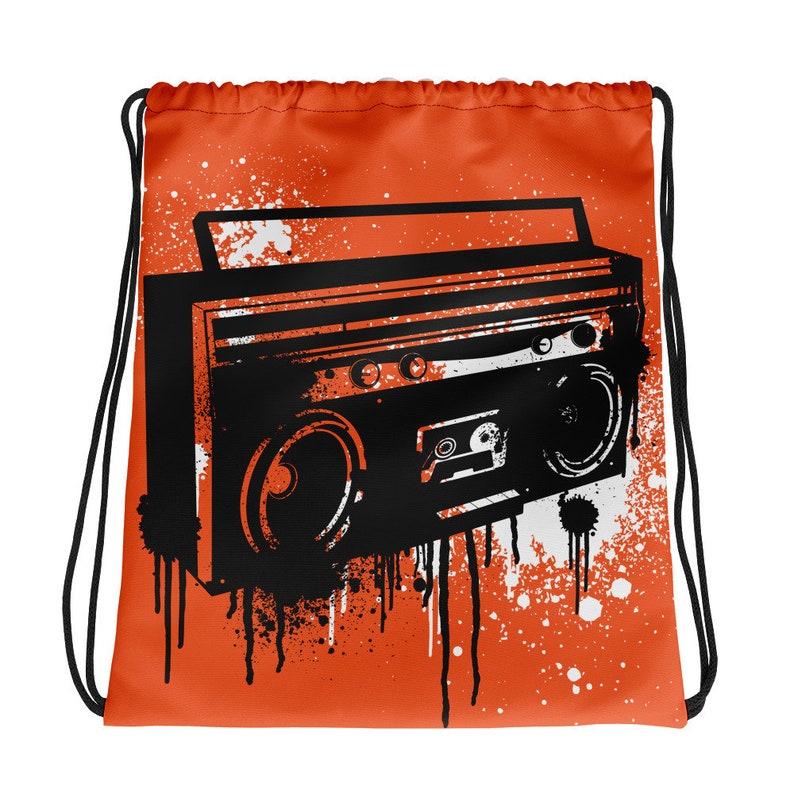 Ghettoblaster Paint Drip Drawstring Bag