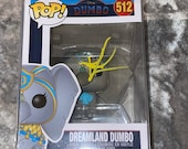 Disney Dreamland Dumbo #512 signed by voice actress Katie Leigh COA W/protector