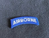 WW2 US Airborne Tab Blue / White 2 3/8 Inch (RS719 Division SSI