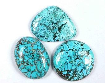 TQ118 For Macrame Turquoise Gemstone Tibetan Turquoise Natural Turquoise Cabochon Turquoise Stones for Jewelry Making Turquoise Stone
