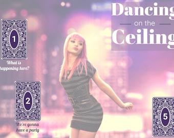 Dancing on the Ceiling - Downloadable Tarot Spread - Celebration - Card Layout - Pop Culture - Lionel Richie - Journal - Grimoire Page