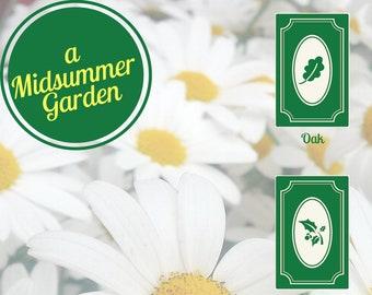 Litha Tarot Spread: A Midsummer Garden - Summer Solstice - Card Layout - Trees - Plants - Flowers - Growth
