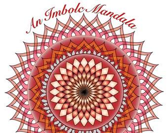Brighid's Fires: An Imbolc Mandala - Downloadable Tarot Spread - Bridget - Flames - Card Layout - Journal - Book of Shadows - Grimoire