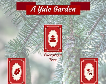 Yule Tarot Spread: A Midwinter Garden - Winter Solstice - Card Layout - Trees - Plants - Growth - Self-Love - Journal - Grimoire Page