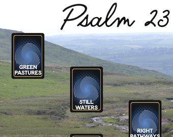 Psalm 23 Tarot Spread - Downloadable Card Layout - Journal - Grimoire Page - Shepherd - Pastures - Valley - Water - Rest - Book of Shadows
