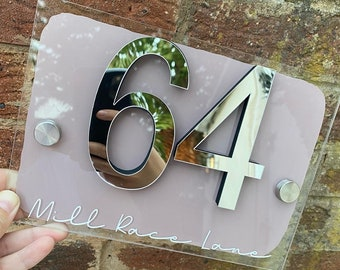 House number plaque, address sign, Personalised house sign, Acrylic house sign, door plaque, housewarming gift, new home