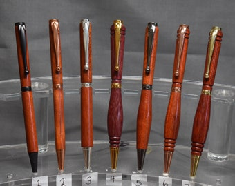 BLOODWOOD Tablet Stylus Bolt Action Retractable Ballpoint Pen   **MADE to ORDER**