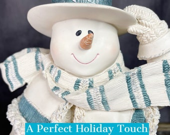 Holiday Snowman | St. Flurry's Cornelius Vanderfrost | Collectible Ceramic Figurine | Vintage Christmas Decor