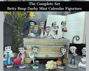 Betty Boop Darby Mint Boopin Through The Years Complete Perpetual Calendar Set   One Of Very Few Complete Sets Available   Collectors Dream