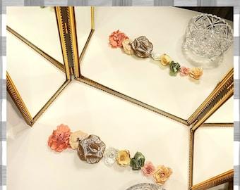 Antique Gold Mirror | Large Vanity Mirror | Vanity Accessories | Victorian Style Mirror | Gold Bathroom Mirror