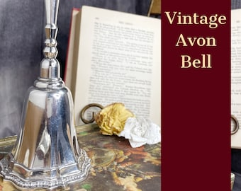 Vintage Bell | Silver Avon Bell | Beautiful Accent For The Season | Nostalgic Gift For The Avon Era |