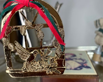 Brass Ornament | Vintage Christmas Decor | A Wonderful Holiday Ornament  For Your Tree Or Your Window