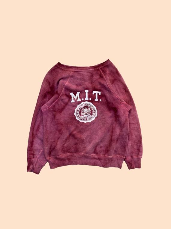 1950s MIT sweatshirt faded.